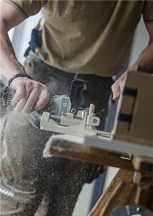 Image coupe de bois en extérieur Zenity Design