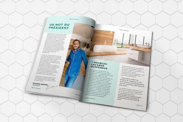 Magazine newsletter rénovation salle de bains Zenity Design Rénovation